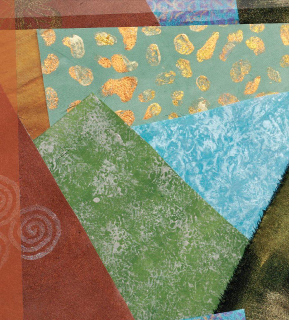 Dyed silk fabric, by Kristal Wick. Fabulous Fabric Beads eBook.