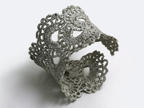 Silver lace cuff, by WhiteFly