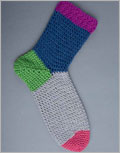 Learn how to design and crochet your own toe-up socks!