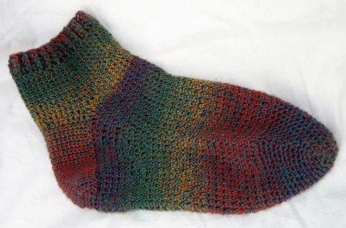 Sock, up close