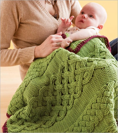 Learn how to crochet a baby blanket in this free guide from Interweave!