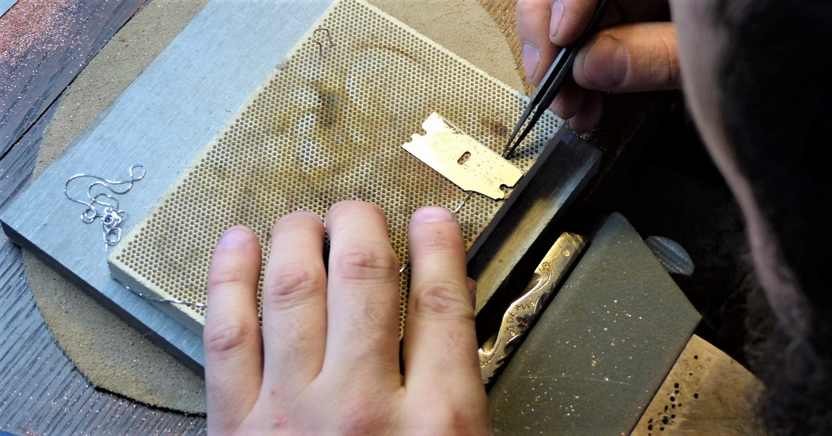 soldering fine chain repair