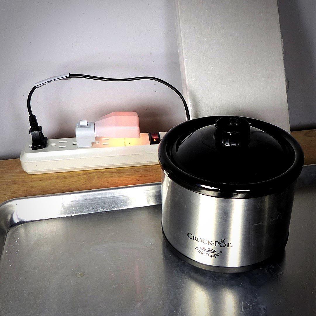 Betsy's soldering setup solder supplies: pickle pot
