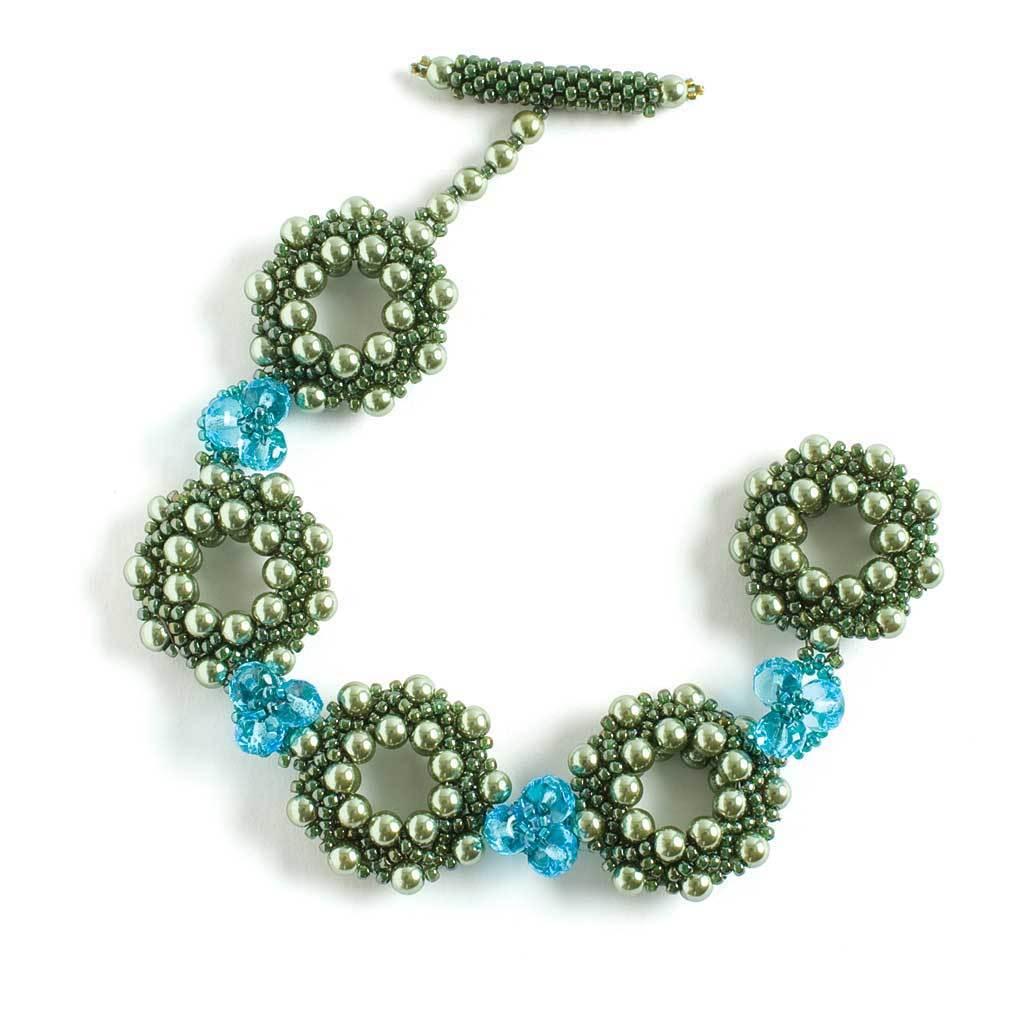 sparkly wheel component bracelet by Ludmila Raitzin