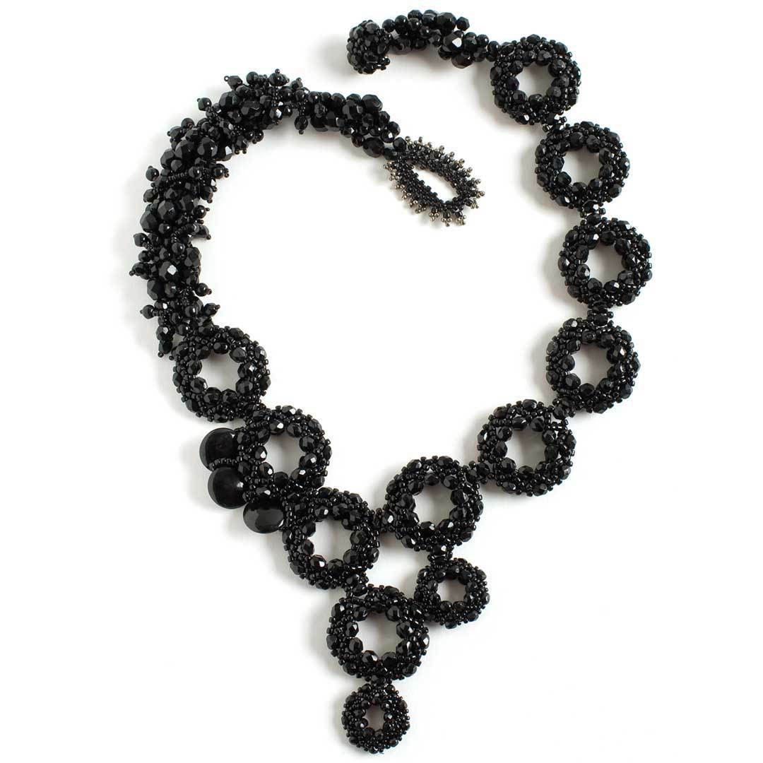 Sparkly Wheels necklace by Ludmila Raitzin