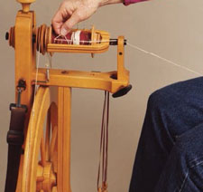 Learn how to use a spinning wheel properly in our free How to Use Spinning Wheels eBook.