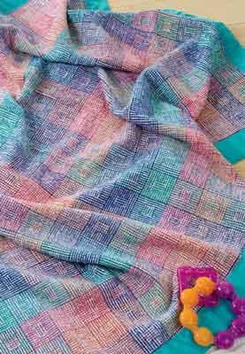 spring-baby-blanket-4-shaft-loom