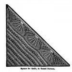 Tassel pattern square for a quilt.
