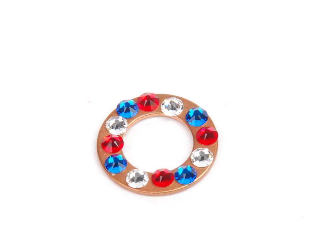 sparkle sprockets step 6a. Free jewelry–making project using Swarovski crystals