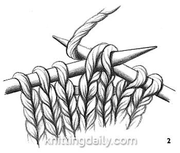 Slip slip Knit Decrease Fig 2
