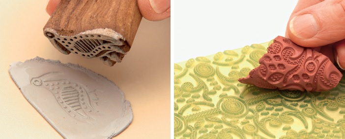 stamping on metal clay