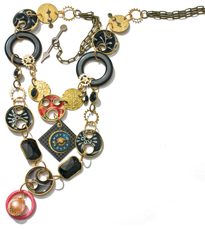 Learn how to make a steampunk necklace in this exclusive, free ebook on steampunk jewelry making.