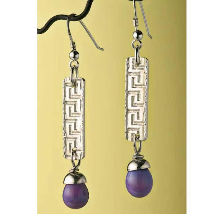 Pattern wire jewelry earrings by Sally Stevens
