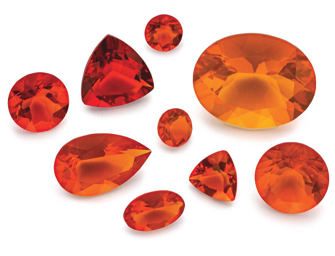 Mexican opal stars as this issue's Smokin' Stone; stones courtesy of Stuller, Inc.; photo: Jim Lawson