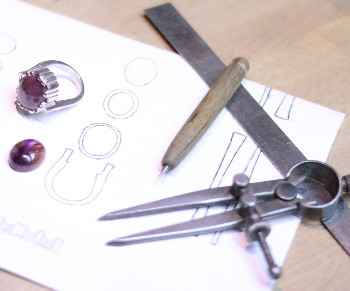 Michael David Sturlin jewelry design goldsmith drawing