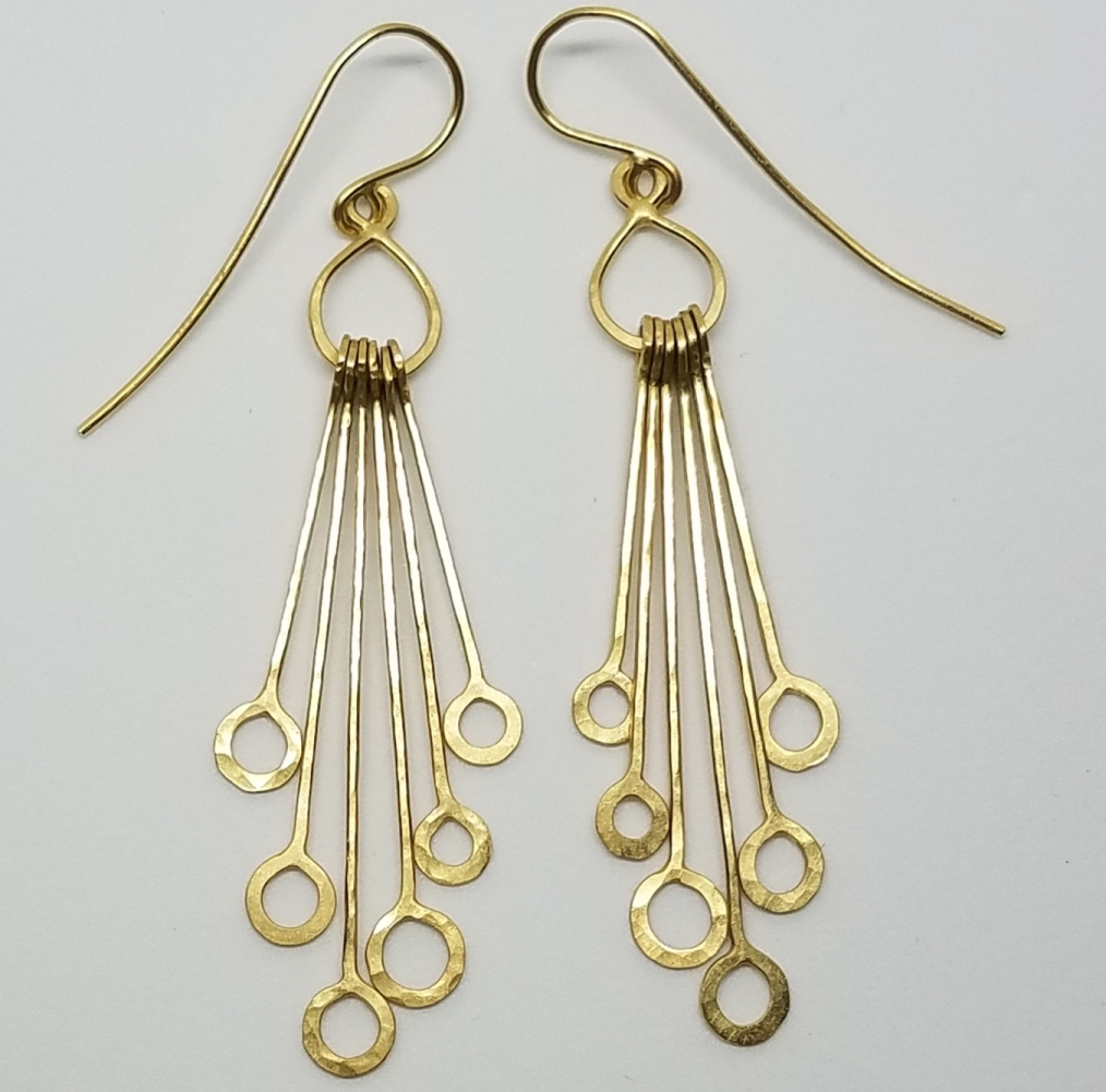 Michael David Sturlin goldsmith Geo drop earrings
