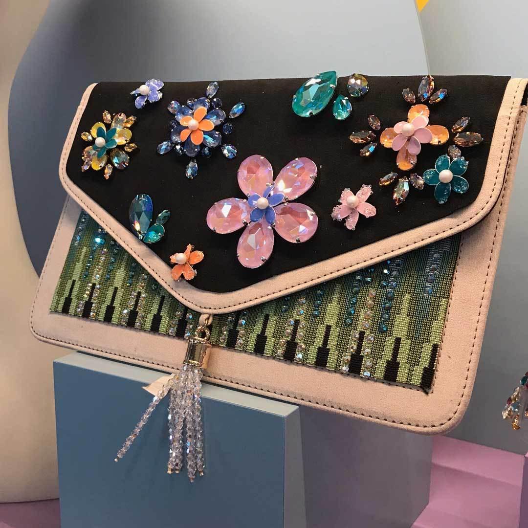 Swarovski crystals beads chatons flat backs clutch purse