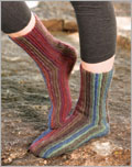Sydney's Sideways Socks Crochet Pattern.
