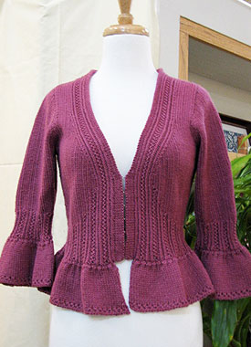 Knitting Gallery - Sylph Cardigan Bertha