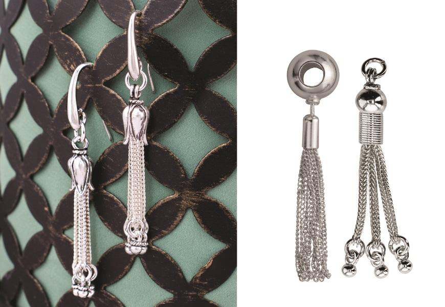 perk up earrings with tassels