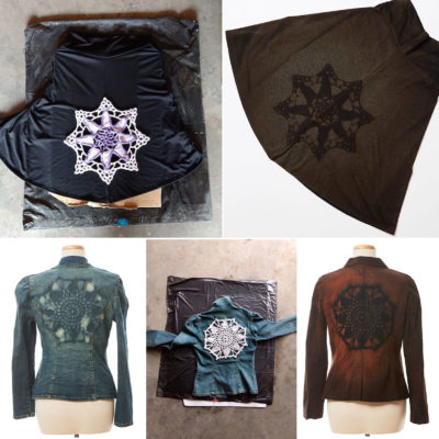 thrift store finds can be easily dressed up with a mandala motif!
