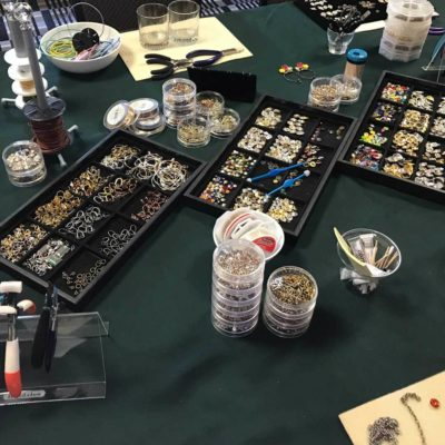 TierraCast hosted a jewelry making party to showcase their new products and highlight all the mini-product releases from 2018.
