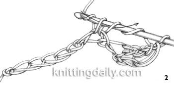 How to Treble / triple Crochet fig 2