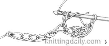 How to Treble / triple Crochet fig 3