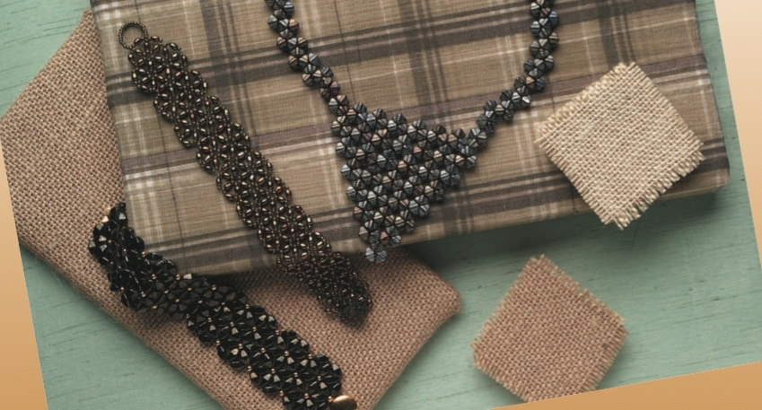 Diane's pieces show what else is possible with triangle weave.