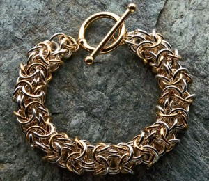Learn how to make a Two toned Turkish bracelet in our FREE eBook on jewelry-