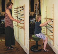 Learn how to use a warping board in this FREE eBook on weaving tools.