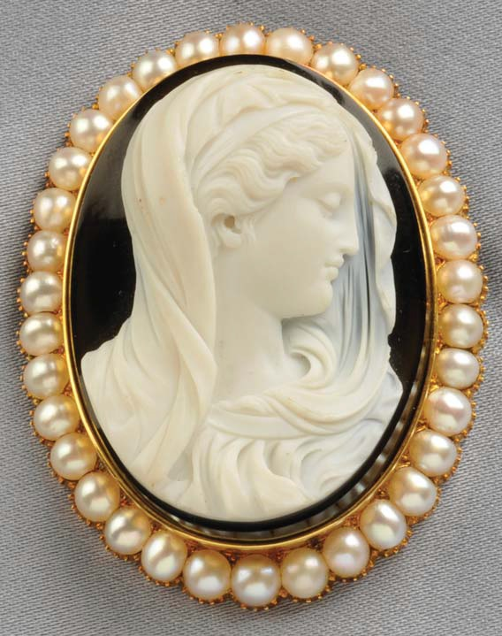 carved stone cameo