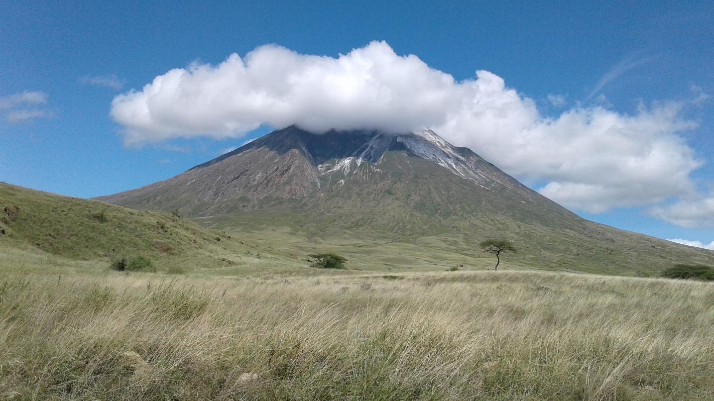 volcano near tanzurine gemstone mines