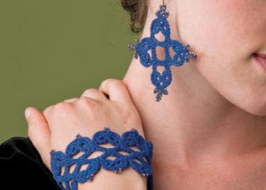 You'll love these crocheted earrings and cuff in our FREE eBook on crochet wedding patterns.