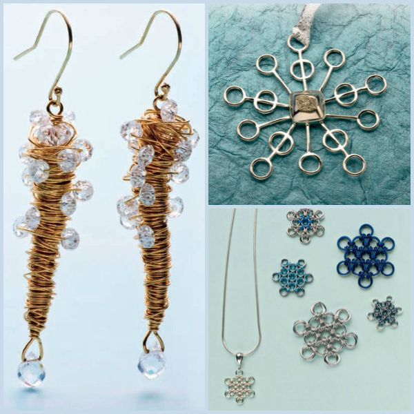 Free and easy DIY holiday jewelry making ideas.