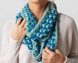 The Winter Sea Cowl from Interweave combines bulky yarn and an openwork stitch to create a beautiful stitch pattern while keeping you warm.