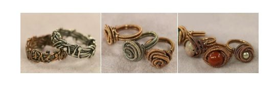 wire ring making by Eva Sherman