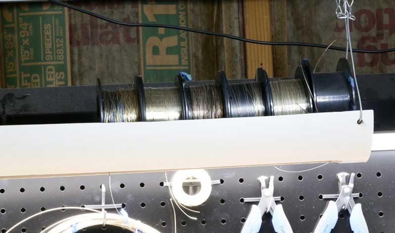 Sarah Thompson's PVC pipe wire storage system