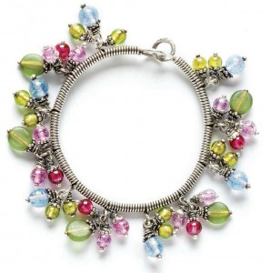 Learn how to make this wire-wrapped bangle bracelet in this free wire jewelry patterns ebook.
