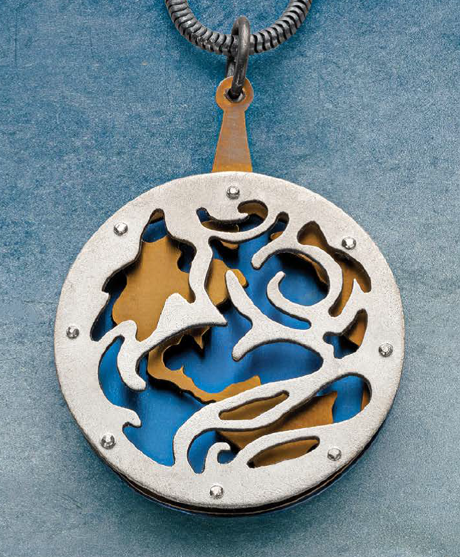 E. Douglas Wunder's Earth from Above pendant project, March/April 2020 Lapidary Journal Jewelry Artist; photo: Jim Lawson