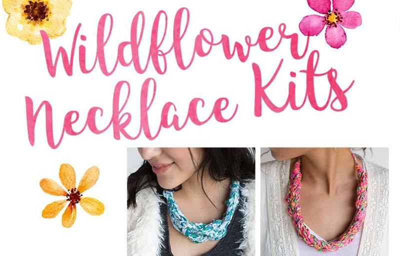 Wildflower Necklaces: A Beautiful Fabric Yarn Dream