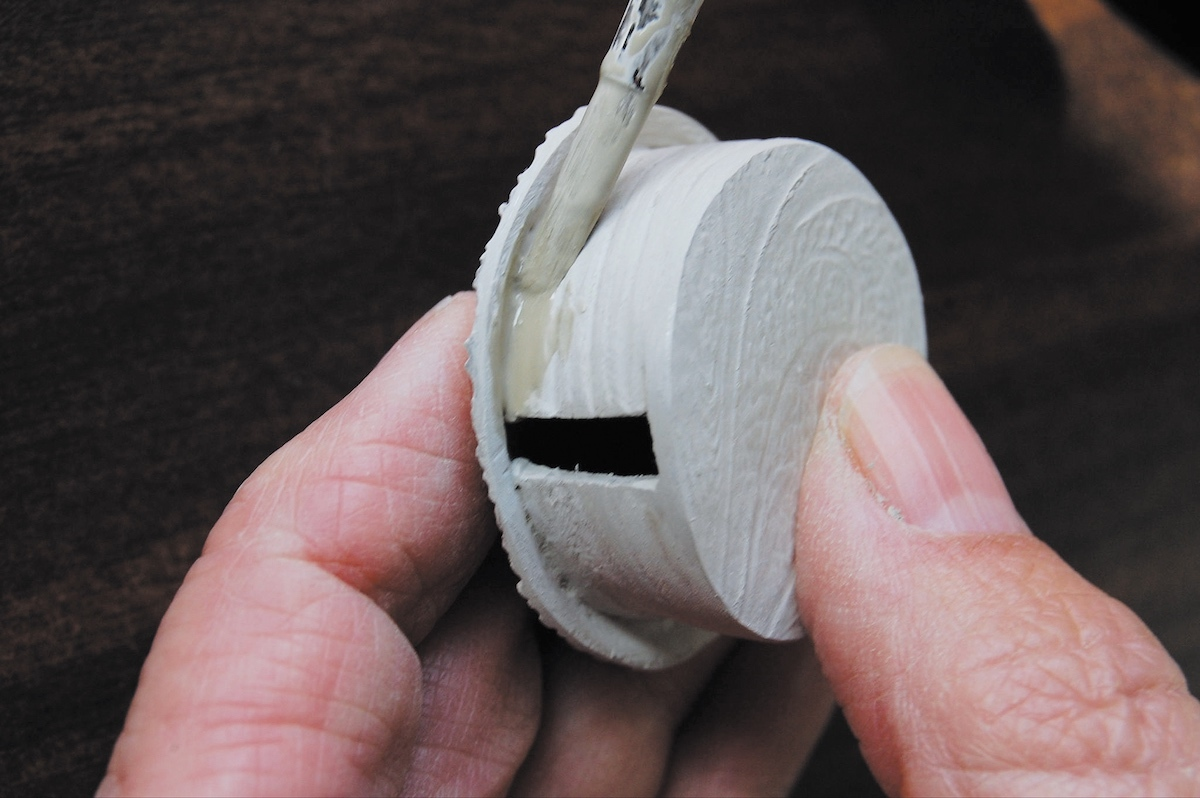 Lynn creates her Metal Clay Yurt Ring using dry construction.