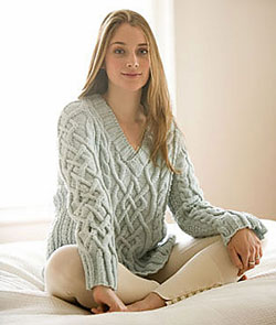 Sweater Knitting Patterns: The Dickinson Sweater is a favorite for anyone who loves cables.